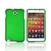 Samsung Galaxy Note Rubberized Hard Case - Green
