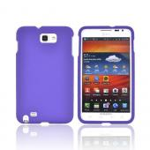 Samsung Galaxy Note Rubberized Hard Case - Purple