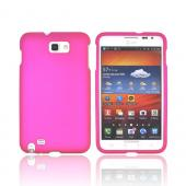 Samsung Galaxy Note Rubberized Hard Case - Rose Pink