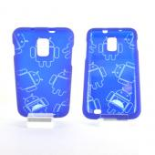 Samsung Galaxy S2 Skyrocket Rubberized Androitastic Hard Case - Blue