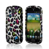 Rainbow Leopard on Silver Rubberized Hard Case for Samsung Galaxy Express