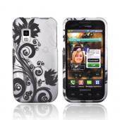Samsung Fascinate i500 Rubberized Hard Case - Black Vines on Gray