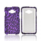 Samsung Rugby Smart i847 Rubberized Hard Case - Black/ Purple Leopard
