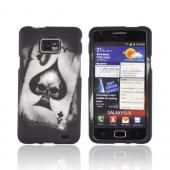 AT&amp;T Samsung Galaxy S2 Rubberized Hard Case - Ace Skull on Gray