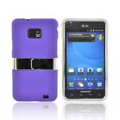 AT&amp;T Samsung Galaxy S2 Rubberized Hard Case w/ Chrome Kickstand - Purple