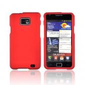 AT&T Samsung Galaxy S2 Rubberized Hard Case - Red