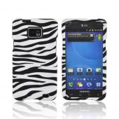 AT&amp;T Samsung Galaxy S2 Rubberized Hard Case - Black/ White Zebra