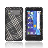 Samsung Captivate Glide i927 Rubberized Hard Case - Gray Plaid on Black