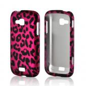 Hot Pink/ Black Leopard Rubberized Hard Case for Samsung ATIV Odyssey