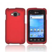 Samsung Rugby Smart i847 Rubberized Hard Case - Red