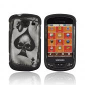 Samsung Brightside Rubberized Hard Case - Ace Skull on Black