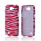 Hot Pink/ White Zebra Rubberized Hard Case for Samsung Galaxy Note 2