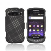 Samsung Rookie R720 Rubberized Hard Case - Gray Plaid on Black