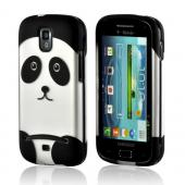 Silver/ Black Panda Rubberized Hard Case for Samsung Galaxy S Relay 4G
