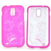 T-Mobile Samsung Galaxy S2 Rubberized Androitastic Hard Case - Rose Pink