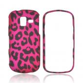 Samsung Intensity III Rubberized Hard Case - Hot Pink/ Black Leopard