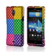 Multi-Colored Artsy Polka Dots Rubberized Hard Case for Sony Xperia TL