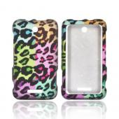 ZTE Score X500 Rubberized Hard Case - Multi-Colored Artsy Leopard