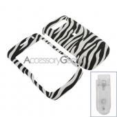 Blackberry Curve 8900 Rubberized Hard Case - Zebra