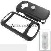 HTC 8525 Rubberized Protective Hard Case - Black
