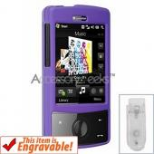 HTC Touch Diamond Rubberized Hard Case - Purple