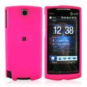 HTC Pure Rubberized Hard Case - Hot Pink
