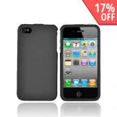 Apple Verizon/ AT&amp;T iPhone 4, iPhone 4S Rubberized Hard Case - Black
