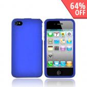 Apple Verizon/ AT&amp;T iPhone 4, iPhone 4S Rubberized Hard Case - Blue