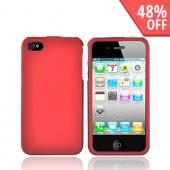 Apple Verizon/ AT&amp;T iPhone 4, iPhone 4S Rubberized Hard Case - Red