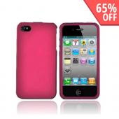 Apple Verizon/ AT&amp;T iPhone 4, iPhone 4S Rubberized Hard Case - Rose Pink