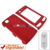LG Incite Rubberized Hard Case - Red