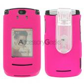 Motorola RAZR2 V8 / V9m Rubberized Protective Hard Case - Hot Pink