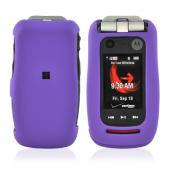 Motorola Quantico W845 Rubberized Hard Case - Purple