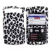 Samsung Intrepid i350 Rubberized Hard Case - Grey/Black Leopard on White