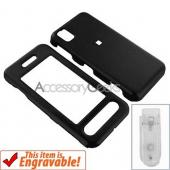 Samsung Instinct Rubberized Hard Case - Black