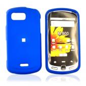 Samsung Moment M900 Rubberized Hard Case - Blue
