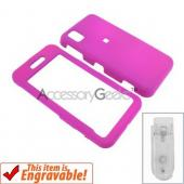 Samsung Finesse Rubberized Hard Case - Hot Pink