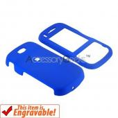 Samsung Trance U490 Rubberized Hard Case - Blue