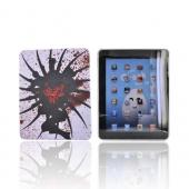Apple iPad (1st Gen) 1st Rubberized Back Cover - Red Rose on Shield of Black/White
