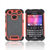Blackberry Curve 9360/ Apollo Perforated Hybrid Hard Cover Over Silicone Case - Black/ Red