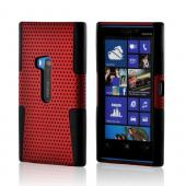 Red Mesh on Black Silicone for Nokia Lumia 920
