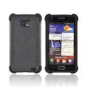 AT&amp;T Samsung Galaxy S2 Perforated Hybrid Hard Cover Over Silicone Case - Black