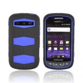 Samsung Rookie R720 Rubberized Hard Case Over Silicone - Blue/ Black