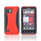 Motorola Droid Bionic XT875 Rubberized Hard Back Over Crystal Silicone - Red/ Black