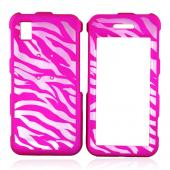 Samsung Finesse R810 Illusion Hard Case - Clear Hot Pink Zebra