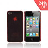 Apple iPhone 4 Ultra Slim Hard Case - Transparent Red