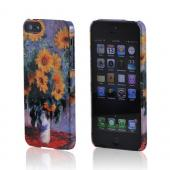 Geeks Designer Line (GDL) Apple iPhone 5 Claude Monet Slim Hard Back Cover - Bouquet of Sunflowers