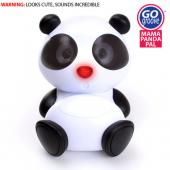 GOgroove Universal Mama Panda Pal Portable Stereo Speaker (3.5mm), GG-MAMA-PANDAPAL - Black/ White