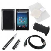 Google Nexus 7 Basic Bundle Package w/Black Hard Back Case, Screen Protector, Micro USB Data Cable, USB Rubberized Car Charger Adapter (3000 mAh), & Black Stylus Pen