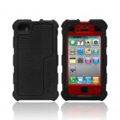 Original Ballistic AT&amp;T/ Verizon Apple iPhone 4, iPhone 4S HC Hard Case Combo w/ Holster &amp; Built-In Screen Protector, HA0778-355 - Black/ Red